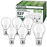 E27 LED Lampe, 9W 800 Lumen LED Lampe Ersatz für 60W Halogen, 3000K Warmweiß, A60 Leuchtmittel,...