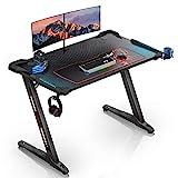EUREKA ERGONOMIC Gaming Tisch Z1S Gaming Schreibtisch Gaming Computertisch PC Schreibtisch Gamer Mit...